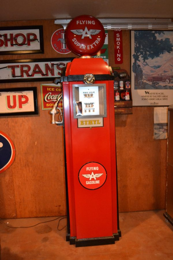 "Southwest Pump Co. Flying ""A"" Gas Pump"