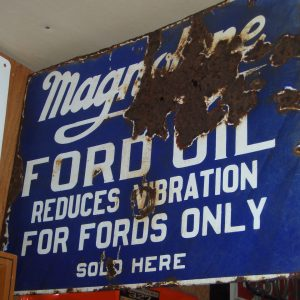 Magnolene Ford Oil Flange Sign
